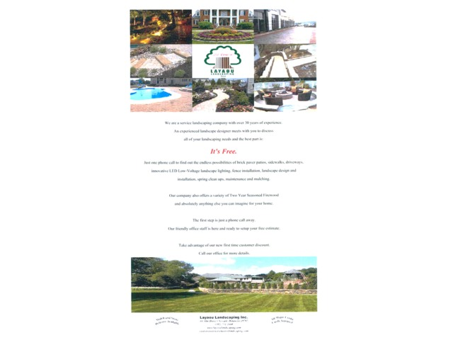 Landscaping Services by Layaou Landscaping, Inc. | free-classifieds-usa.com