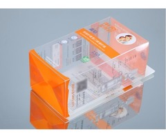 Custom foldable plastic boxes with printing design