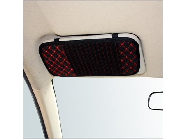 Latticed Car CD Clip Sun Visor CD Holder 13 Discs Storage PU leather | free-classifieds-usa.com