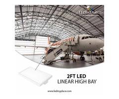 Install 2ft 105w Linear High Bay LED Light for Saving massive Amount