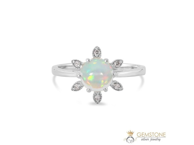 925 STERLING SILVER OPAL RING-FLORALIA | free-classifieds-usa.com
