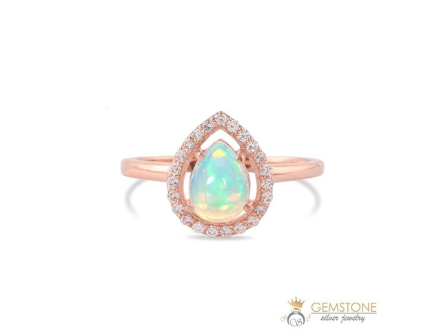 14K ROSE GOLD VERMEIL OPAL RING-GRACE | free-classifieds-usa.com