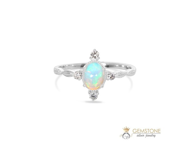 925 STERLING SILVER OPAL RING-BRILLIANCE | free-classifieds-usa.com