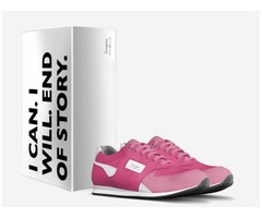 Italian Leather Custom Athletic Shoes supporting Breast Cancer