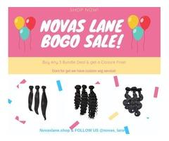 Nova's Lane BOGO SALE buy 3 bundles and get a closer free