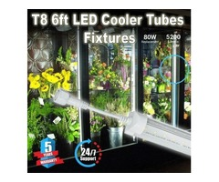 Use Durable T8 6ft LEDCooler Tubes For Attracting Customers