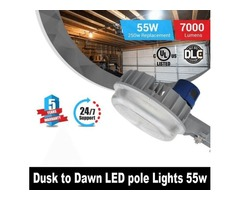 Use Dusk to Dawn LED Pole Lights 55w for Maximum Visibility During Nights