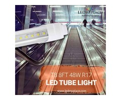 Install Rotatable R17D 8ft 48W LED Tubes For Indoor Lighting