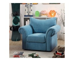Buy Christopher Contemporary Style Blue Upholstered Arm Chair