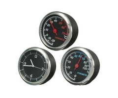 Mechanics Thermometer Hygrometer Clock Time Steel Core Pointer For Auto Motor