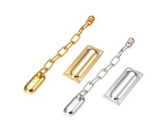 Satin Chrome Finish Chain Door Guard Security Lock Cabinet Latches With Screws