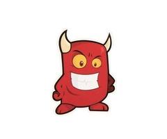 Red Monster Custom Stickers | High Quality Custom Stickers | GS-JJ.com ™