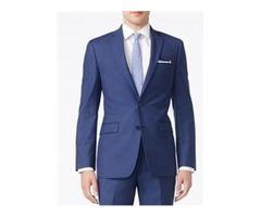 Calvin Klein Solid Blue Slim Suit | ISW MensWears