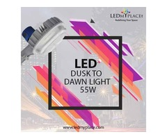 Install Dusk to Dawn Yard LED Pole Lights 55W For Safer Nights