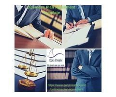 Business Plan Agreement Template with legal document creator