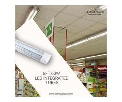 Install 8ft LED Integrated Tubes For Better Illumination