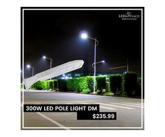 Switch to this LED Pole Light for greener, brighter