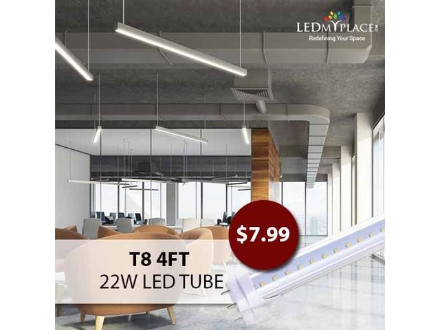 T8 4ft 22W LED Tube - A Perfect Retrofit For Fluorescent Tubes! | free-classifieds-usa.com