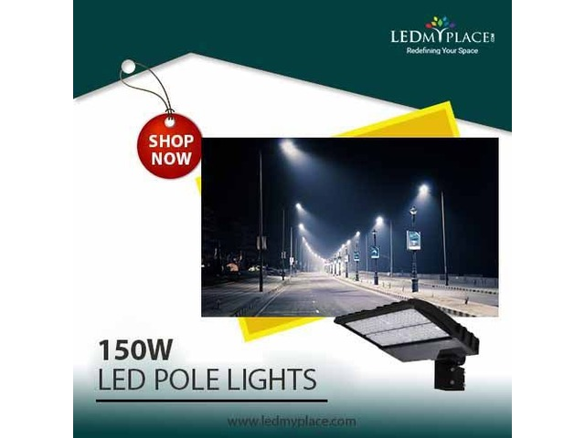 Upgrade to 150W LED Pole Lights for Natural Day Light Effect | free-classifieds-usa.com