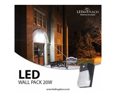 Install the highly recommended LED Wall pack 20w 5700K w Photocell Forward Throw with 2200 lumens IP