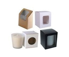 Get your Delicious Candle boxes with window wholesale