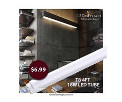 Install T8 LED Single End Power Tubes To Make Extra Savings