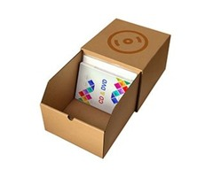 Get 30% Disscount on Personalized DVD cardboard storage boxes with window wholesale