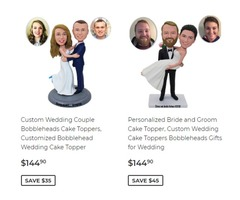 Custom Wedding Bobbleheads for Wedding, Best Gifts for Wedding