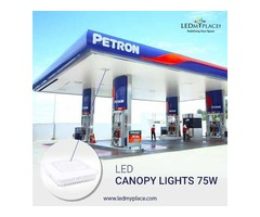 This LED Canopy Light offers 75% energy savings with brighter whiter light