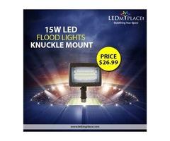 Horizontal or Vertical Illuminance, 15W LED Flood Light Has It All