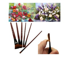 6 PCS Nylon Acrylic Drawing Painting Gouache Brush Pen For Artist Supplies