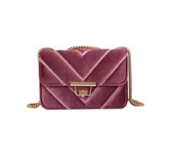 Luxurious Velour Chain Crossbody Bag