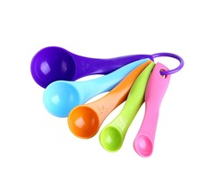 5Pcs Colorful Measuring Spoons Set Kitchen Tool Utensils Cream Cooking Baking Tool