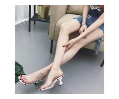 PVC Polka Dot Slip-On Womens Slide Sandals