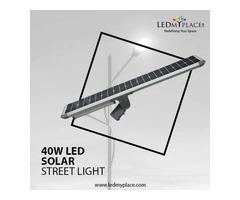 Make Cities Safer By Installing 40 Watt LED Solar Street Light