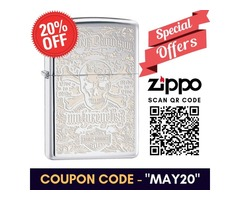 Get Special Discount on Personalized Engraved Harley Davidson Zippo Lighter | Use Code - MAY20