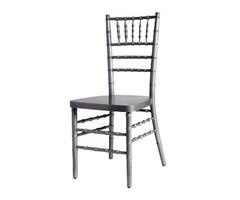 Silver Wood Chiavari Chair with Free Cushion - Chair Company Larry Hoffman | free-classifieds-usa.com