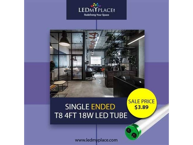 Install Single Ended T8 4ft 18W LED Tube For Soothing Lighting Effects | free-classifieds-usa.com
