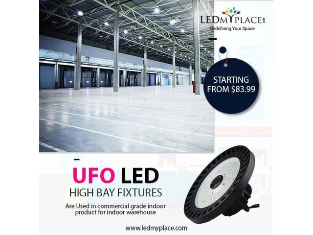 Install UFO High Bay LED Fixtures at Higher Ceiling Places | Buy Now! | free-classifieds-usa.com
