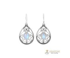 Moonstone Earring - CELESTIAL DROP - GSJ for sale