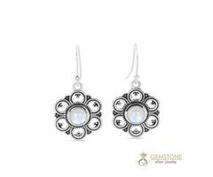 Moonstone Earring - BLOSSOM - GSJ for sale