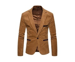 Tidebuy Plain One Button Slim Fit Mens Blazer