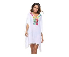 Tidebuy Loose Hollow Womens Beach Dress