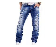 Tidebuy Straight Hole Mens Jeans
