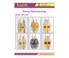 Stylish Hamsa Hand Earrings on Wholesale