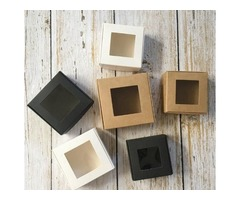 Get your Custom Soap boxes with window wholesale