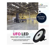 Manage Gyms Lighting by Installing High Bay LED UFO Lights 240W