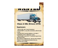 Exp. CDL Class A Drivers