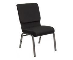 "Black 21"" Chapel Chair - Folding Chair Larry Hoffman"