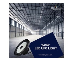 Replace 800W MH Lights With 240W UFO LED High Bay Lights